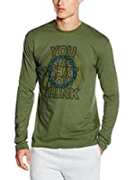 CMP Campagnolo Camiseta Manga Larga 3S47457 (Verde)