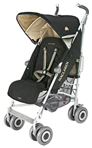 Maclaren Techno XLR Stroller, Black/Champagne (Discontinued by Manufacturer) (Discontinued by Manufacturer)
