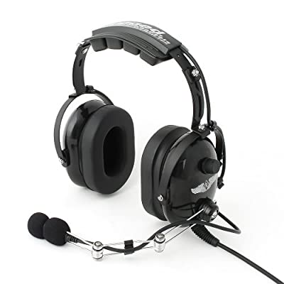 Rugged Air RA200 Black General Aviation Pilot Headset by Rugged Air