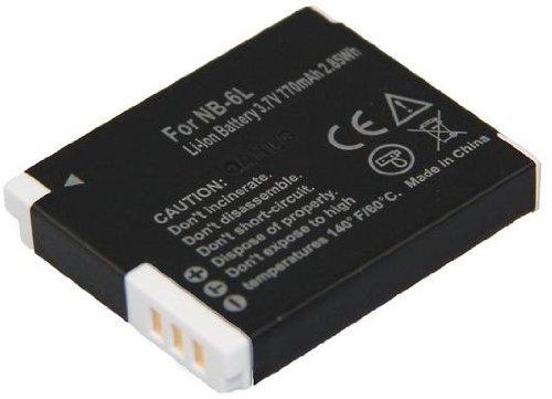 Akku (baugleich Canon NB-6L) für die Canon PowerShot SX240 HS / SX260 HS + telstar® Displayschutzfolie