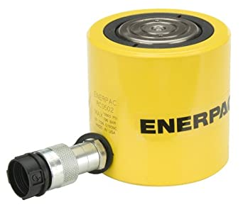 "Enerpac RCS-502 Single-Acting Aluminum Hydraulic Cylinder with 50-Ton Capacity, Single Air Port, 2.38"" Stroke"