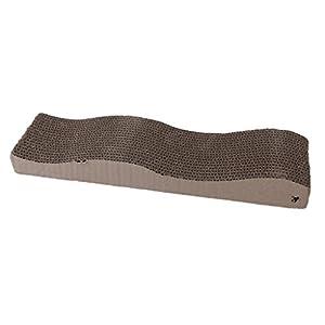 Wave curved board cat scratcher seize scratch for Curved cat scratcher
