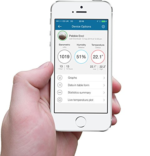 Blue Maestro Tempo Wireless Environment Monitor and Weather Station for  iOS, Android and optional Web Access with Free Apps, 12 Months Warranty -