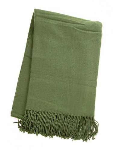 "50"" X 70"" Soft Cashmere-Like Woven Throw - Sage -"