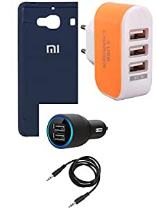 NIROSHA Cover Case Car Charger Charger for Xiaomi Redmi 2s - Combo
