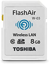 Comprar Toshiba FlashAir W-03 - Tarjeta de memoria SecureDigital de 8 GB, (WiFi, 10 MB/s), color blanco
