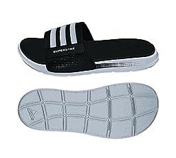 adidas Performance Men\'s Superstar 4G M Sandal,Black/White/Black,9 M US