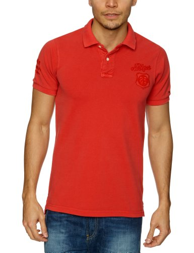 Tommy Hilfiger Pilot Polo G/D Shortsleeve 614 Polo Men's T-Shirt Scarlet XX-Large