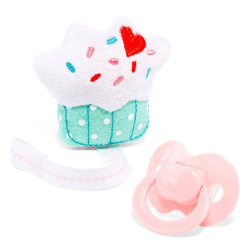 Carter'S Pacifier And Pacifier Clip Birth And Up (Cupcake) front-145279
