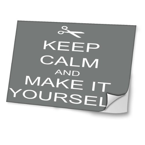 """Keep Calm"" 10055, Keep Calm And Make It Yourself, 13.3"" Laminierte Laptop Aufkleber."