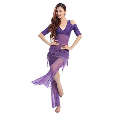 HOTER® Special Shoulder Design Belly Dancing Costumes Set--A Three-Piece, Price/Set