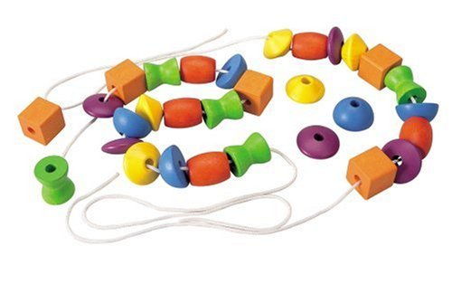 Children Learn About Colors Spaces And Sizes - Plan Toy Lacing Beads