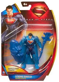 Man of Steel Figure and Accessories (Set of 3) Includes Superman Strike Shield, Superman Wrecking Ball and General Zod Shadow Assault - 1