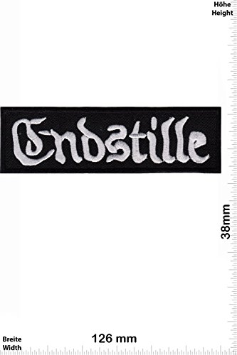 Patch - Endstille - silver - black - Metal - MusicPatch - Rock - Chaleco - toppa - applicazione - Ricamato termo-adesivo - Give Away