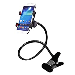 Mobilegear Universal Flexible Mobile Holder Cable Cum Clip Stand with 360 Degree Rotation