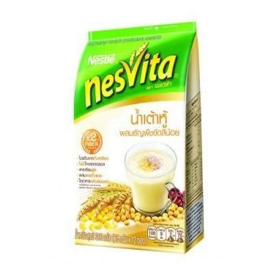 [Nestle Nesvita Soy Milk with Wholegrain Instant Breakfast Drink 300g. (25g.x12 Sachets / Pack)] (Milk Eggs Cheese Costume)