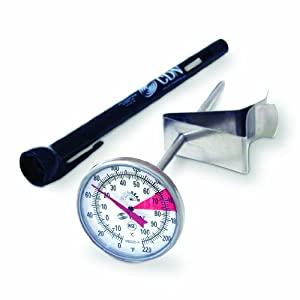 CDN IRB220-F ProAccurate Insta-Read NSF Beverage and Frothing Thermometer, 5-inch stem by Component Design