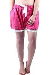 Vixenwrap Cute Pink Printed Shorts(XL_Pink)