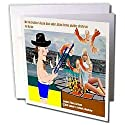 Londons Times Funny Society Cartoons - Another Shrimp On The Barbie - Greeting Cards-6 Greeting Cards with envelopes