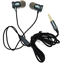 AT Shopping OTD Metal Earphone/Handsfree Compatible For Celkon A119Q Signature HD - Metallic Grey