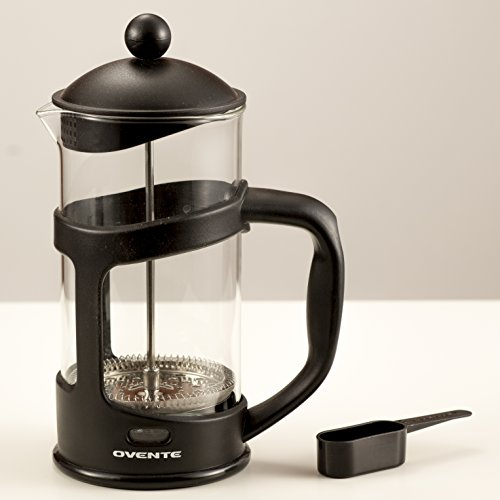 Ovente FPT12B French Press Drip Coffee Maker, 12-Ounce, Black