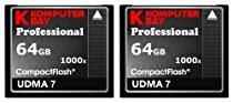 KOMPUTERBAY 2 PACK - 64GB Professional COMPACT FLASH CARD CF 1000X 150MB/s Extreme Speed UDMA 7 RAW 64 GB