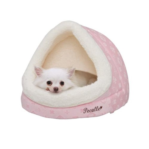 Pecalle Dome Shaped Pet Dog/Cat Bed W/Removable Cushion, Pbdd-400, Pink front-228035
