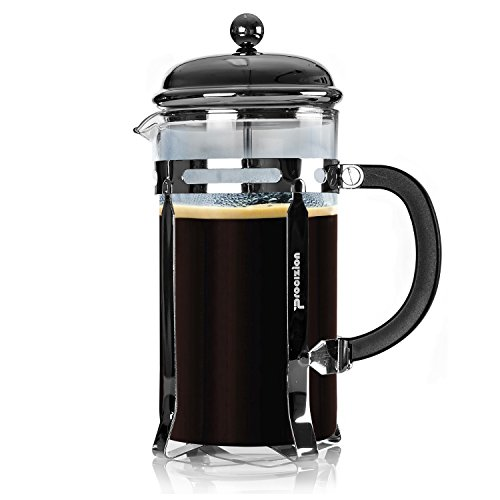 Procizion French Press Coffee, Espresso and Tea Maker 34 Oz Pot, Chrome, Includes 6 Filters (Pressed Charcoal compare prices)