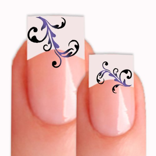 Nailart Tattoo Sticker SL-795 Nailtattoo Nagelsticker 26 Stk in 3 Größen