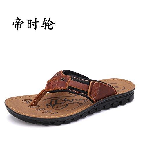 pantoufles pour homme/sandales en cuir d'été/Chaussures casual en cuir tendance/Chaussures sandales en cuir