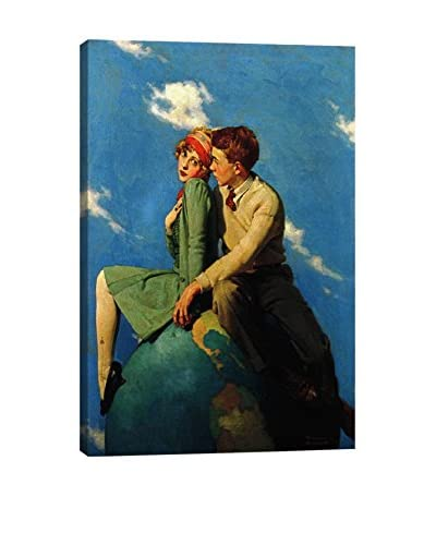 Norman Rockwell On Top of the World Giclée Print