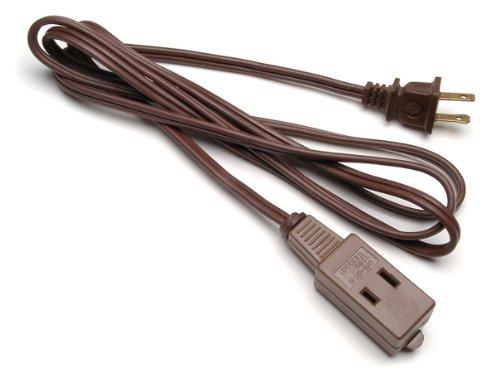 Darice Extension Cord, 6-Feet, Brown