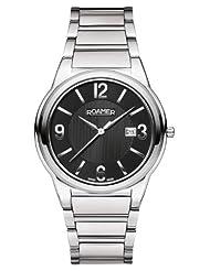 Roamer of Switzerland Men's 507980 41 55 50 Swiss Elegance Black Dial Stainless Steel Date Watch