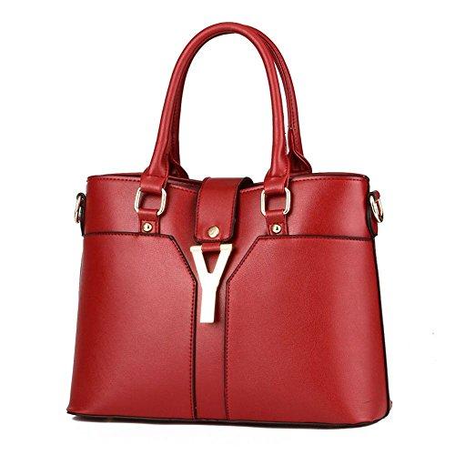 Koson-Man-Borsa Vintage da donna, borsetta per impugnatura, rosso (Rosso) - KMUKHB361