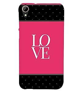 Love Pink Black Dots 3D Hard Polycarbonate Designer Back Case Cover for HTC Desire 828 :: HTC Desire 828Q :: HTC Desire 828S :: HTC Desire 828G+ :: HTC Desire 828 G Plus :: HTC Desire 828 Dual Sim
