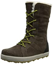 Hot Sale Sorel Women's Glacy Lace Snow Boot,Saddle/Chartreuse,9 M US