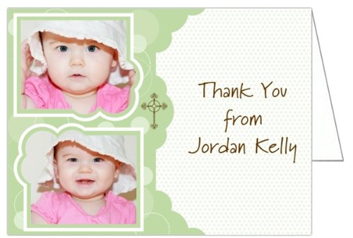 Bubblin' With Joy Photo Baptism Christening Thank You Cards - Set Of 20 front-985207