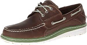 Sperry Top-Sider Men's Billfish Ultralite 3 Eye Brown/Green Boat Shoe 11.5 M (D)