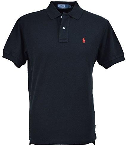 polo-ralph-lauren-noir-pony-orange-custom-fit-taille-xxl