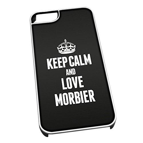 Weiß Schutzhülle für iPhone 5/5S 1291schwarz Keep Calm und Love morbier (Jura)