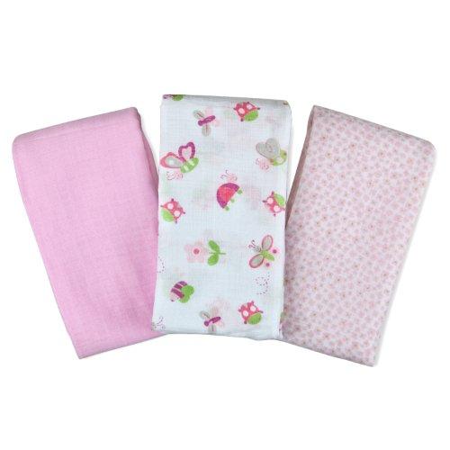 Swaddleme Muslin Blanket, Bugs & Butterflies, 3-Pack