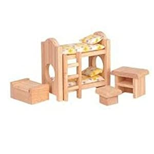 Plan Toys Classic Children's Bedroom Dollhouse Furniture
