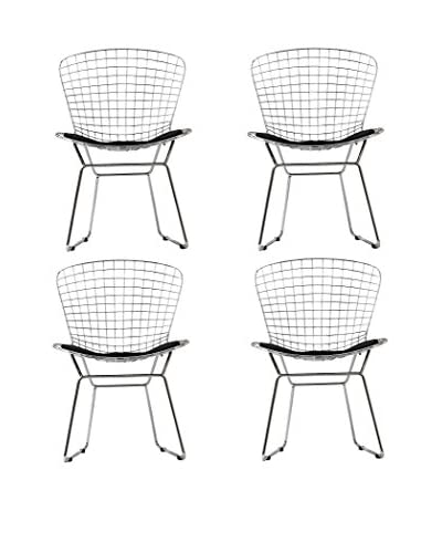 Modway Set of 4 Cad Dining Chairs, Black