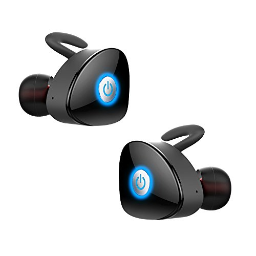 True Wireless Earbuds, FKANT Gemini Completely Wireless V4.1 Dual Mini Bluetooth Headphones Twin Stereo Sweatproof Sport Earphones with Mic for iPhone 7 Samsung S7 Edge And More
