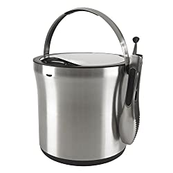 OXO Good Grips Steel Ice Bucket and Tongs Set, Silver