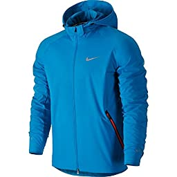 Nike Mens Shield Light Running Jacket Lt Blue Laquer 642360-413 (X-Large)