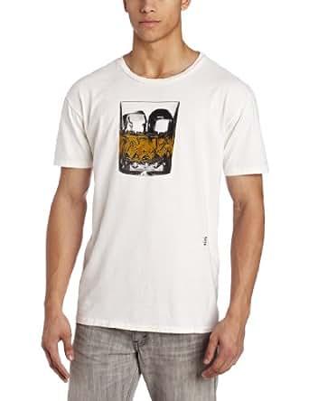 PASTE Men's On The Rocks T-Shirt, White, Medium