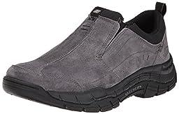 Skechers Sport Men\'s Rig Mountain Top Sneaker, Charcoal/Black, 12 M US