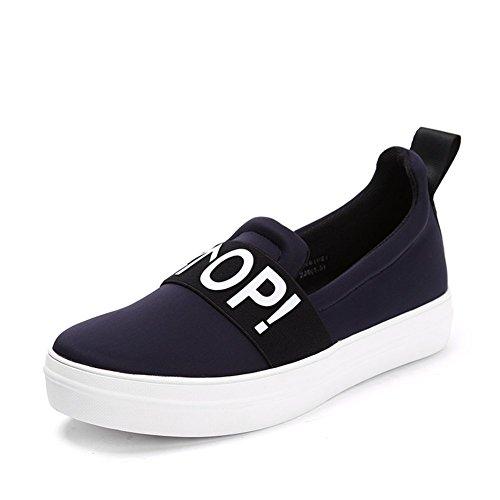 scarpe piattaforma Ms. Oil/Un scarpe pedale casuali/Mocassini Bottomed-C Lunghezza piede=21.8CM(8.6Inch)