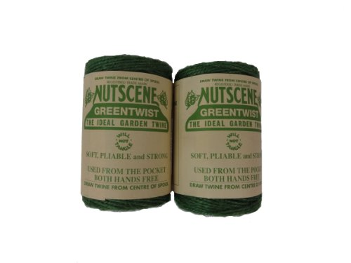 Bosmere K807G 2-Pack Nutscene Colored 3-Ply Twine, 394-Feet per Spool, Green